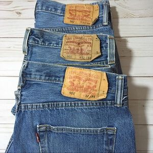 Levi's 501 bundle of 3 Button Fly jeans